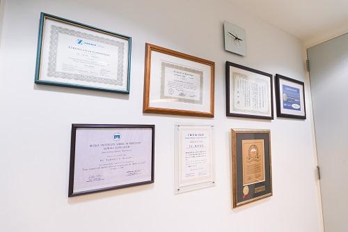 厚生労働省から認定された歯科医院~ハイレベルな医院環境
